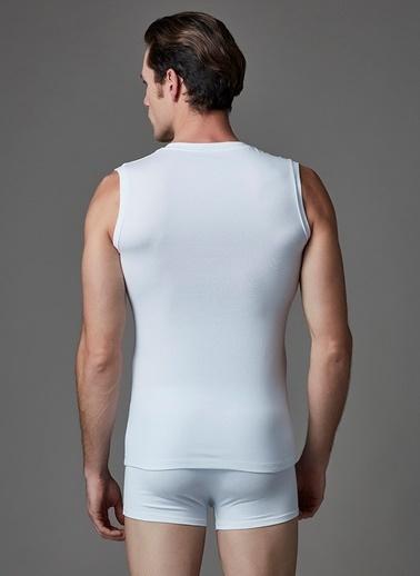 Dagi Compact V Yaka Kolsuz T-Shirt 2'li Beyaz